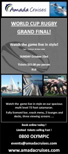 WORLD CUP RUGBY GRAND FINAL CRUISE